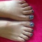 Midnight Swim with silver foil effect