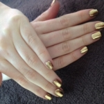 Shellac Burnt Romance with Gold Foil